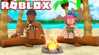 【Roblox荒岛求生】疯狂原始人流落荒岛! 荒野猎人建造家园! 小格解说 乐高小游戏