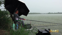 钓了一早上突然下大雨,大雨过后比较容易钓上大鱼!