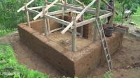 水稻哥 第107集 怎么盖房子怎么盖夯土墙 我重新盖了一个小屋