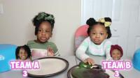 搞笑福利:家庭搞笑恶作剧,6个DIY巨型vs迷你软糖运气比拼,姐妹俩谁更幸运-www.nbitc.com,慧之家