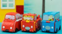 小猪佩奇新玩具 三款翻转变形的趣变车