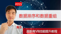 高职考技能提升教程055期 数据排序和数据重组 VB 刘金玉编程