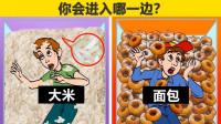 脑力测试:大米还是面包,你会选择被埋在哪一边?