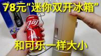 """78元迷你""""手掌冰箱"""",能制冷还能加热,可乐放进去真的有用吗"""