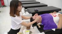 越南理发店,头部按摩与护理