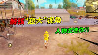 """和平精英:如何解锁""""超大""""视角,让游戏人物变成迷你版!"""