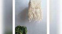 新款北欧ins手工创意编织灯罩吊灯波西米亚客厅卧室民宿床头小夜灯