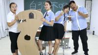 学霸王小九校园剧:学生挑战用竹签夹花生米,夹到100分有奖励,老师的奖励太有才了