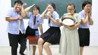 学霸王小九校园剧:全班挑战无表情吃柠檬,学生们全军覆没,没想老师直接吃了一大盆