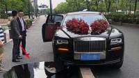 """610万的劳斯婚车,因扎花太高产生盲区,V12发动机被""""一箭穿心"""""""
