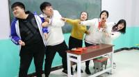学霸王小九校园剧:老师让学生挑战吃辣条,没想新同学一听条件直接吓跑了!太逗了