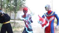 奥特曼真人版:蜘蛛侠宠物被抢,在银河手里发现它,大战一触即发