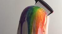 """19少女堪称""""染发狂魔"""",把头发染成""""彩虹色"""",网友:太惊艳了!"""
