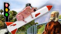 奇怪动物竞速 一头猪猪坐着火箭登月后遇到了上帝! 屌德斯解说