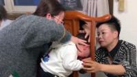 浙江衢州网友:吃个晚饭一不留神孩子头卡住了,原谅我不厚道的笑了!