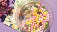 试玩彩色泡沫球史莱姆,起泡后变成了液态玻璃?解压好玩无硼砂!