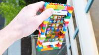 用乐高积木包住手机,在30米高空丢下会碎吗?结果令人没想到!