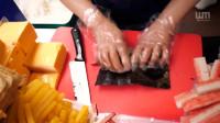 芝士金枪鱼紫菜包饭韩国街边小吃