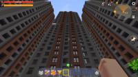 迷你世界《城市旅途》在每个小区楼房上跳跃,小心别迷路了