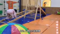 3岁宝宝上完课去游乐场,爸爸陪玩很重要,宝妈分享育儿日常心得