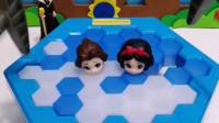 白雪贝尔被困冰面了,王后要来救他们,你能帮帮忙吗?
