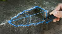 如何用3D打印笔修复破损墙壁?小伙一顿操作,网友:太惊艳了!
