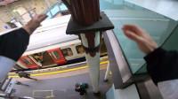 和时间赛跑!跑酷达人挑战地铁,全程第一视角记录全程