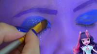 国外小女孩喜欢小马宝莉,妈妈帮她美妆打扮成了紫悦的模样