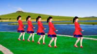 广场舞《雪山阿佳》歌声优扬,舞步大气,简单易学32步健身舞