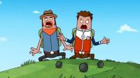搞笑吃鸡动画:霸哥瓦特狙击主播表演秀开始了!主播招惹到你俩了吗