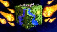 我的世界趣味内容小合集,陨石的坠落和模拟真实砍树 魔哒解说