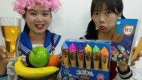 """熊孩子写作业偷吃被抓,""""五彩冰淇淋笔""""藏跳跳糖,真搞笑"""