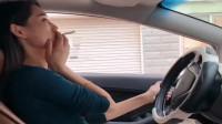 浙江小姐姐模仿男生开车的样子,简直太搞笑了!