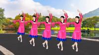 益馨广场舞《一朵云在蓝天飘过》歌甜舞美32步,简单大方,附教学