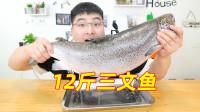 618元买了一整条12斤重的三文鱼,小伙直接吃到撑,太过瘾了!