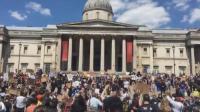 """伦敦发生示威游行 声援美""""黑人之死""""抗议活动"""