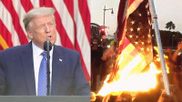 """实拍:特朗普威胁将动用军队""""镇暴""""!骚乱持续升级 超40城宵禁"""