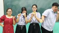 """挑战吃""""馍夹生姜"""",成功奖励9999块冰糕,没想王小九含泪吃完"""