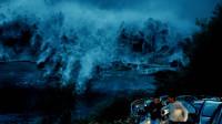 80米高的海啸冲击小镇,居民看这一幕,连逃跑的欲望都没了