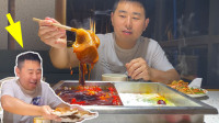 夫妻俩吃62元自助火锅,超小厨专吃毛肚12盘,这回老板应该亏大了