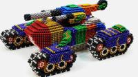 高手就是高手!用10000颗巴克球拼成坦克,成品真是太惊艳!