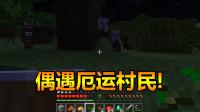 我的世界基岩版1:偶遇掠夺者!深入追寻,却被铁傀儡举高高!