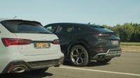 直线加速对决: 奥迪RS6 Avant vs 兰博基尼Urus