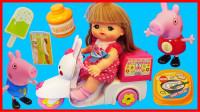 咪露妹妹骑电动车送外卖的玩具故事