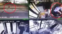 长沙一公交司机单手驾驶撞上行人致死 车内监控视频曝光