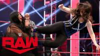 RAW1410:闺蜜克洛斯飞扑失误 输给比莉凯 小魔女阿莱克萨好心疼