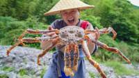 花1200元买只帝王蟹,第一次吃这么贵的螃蟹,100元一口真过瘾