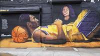 美国洛杉矶暴乱持续,但是科比gigi壁画完好无损,瓦妮莎发文感谢