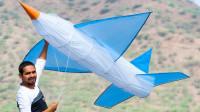 巨大的飞机风筝可以飞向蓝天吗?新奇趣味实验,一起来见识下!