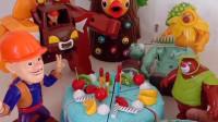 熊大穿给光头强送蛋糕,光头强带着机器人打僵尸,熊出没之间闹误会了